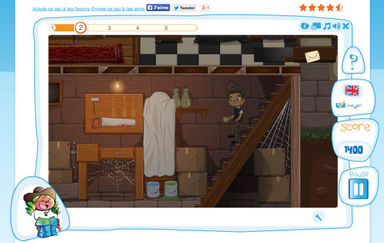 Exemple de jeu SpeakyPlanet : Tom Walker mène l'enquête