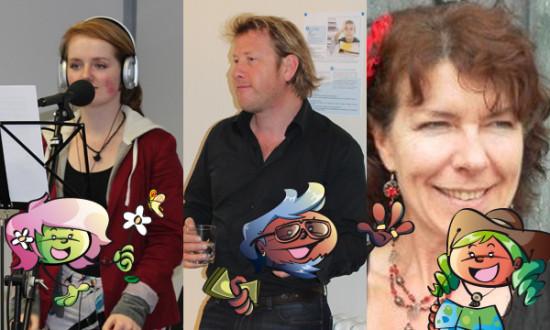 Kirsty, Nicholas et Julie, les voix des Speakies